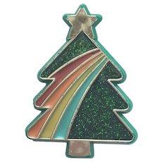 Vintage HALLMARK Christmas Tree Pin - Book Piece