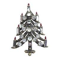 Sparkling Signed PAKULA Vintage Christmas Tree Pin