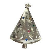 CLASSIC Vintage Eisenberg Christmas Tree Pin - Book Piece