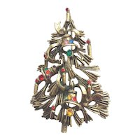 Fabulous, Ornate Vintage Christmas Tree Pin - Book Piece