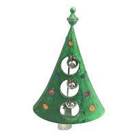 Fun, Different Vintage Christmas Tree Pin - Book Piece