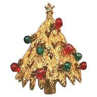Signed BENEDIKT, NY Christmas Tree Pin - Book Piece