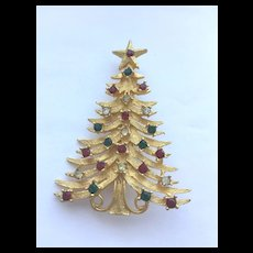 Classic Vintage Christmas Tree Pin - MYLU - Book Piece, Signed