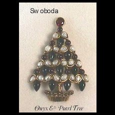 WONDERFUL Vintage *Swoboda* Christmas Tree Pin - Book Piece