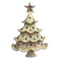 Beautiful Vintage MYLU Christmas Tree Pin - Book Piece