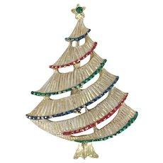 Singed Vintage GERRY'S Christmas Tree Pin - Book Piece