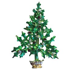 Vintage *TANCER II* Christmas Tree Pin - Book Piece