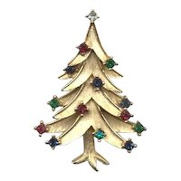 Classic Signed *TRIFARI* Christmas Tree Pin - Book Piece