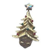 Vintage Tancer II Christmas Tree Pin - Book Piece