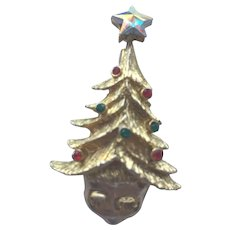 Vintage Tancer II Christmas Tree Pin - Book Piece