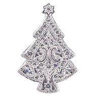 BEAUTIFUL Signed Gorham Christmas Tree Pin