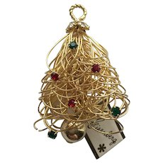 "WONDERFUL Vintage ""Eisenberg"" Christmas Tree Pin - Different! - Book Piece"