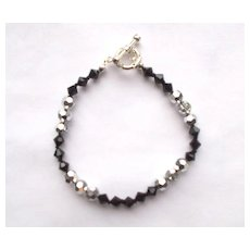 Black Onyx/Crystal Bracelet