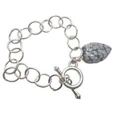 """Pretty Obsidian """"WISH"""" Bracelet"""