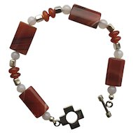 Beautiful Red Banded Agate Bracelet