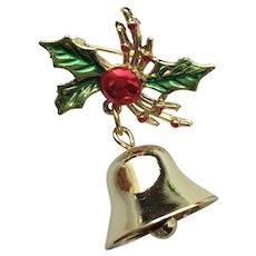 Pretty Christmas Bell Pin