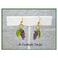 Grape Cluster Dangle Earrings