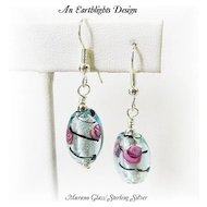 Beautiful Italian Glass Dangle Earrings