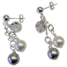 Swarovski Pearl and Crystal Earrings