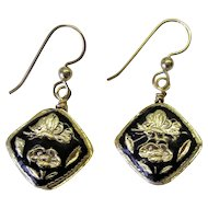 Black Cloisonne Earrings