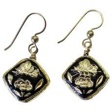 Black Cloisonne Earrings