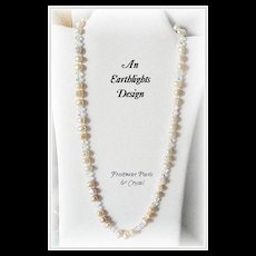 """""""Champagne Cocktail"""" Baroque Pearl/Crystal Necklace"""