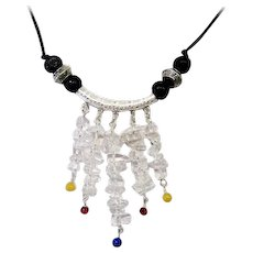 Beautiful and Different Quartz/Sterling Silver Necklace