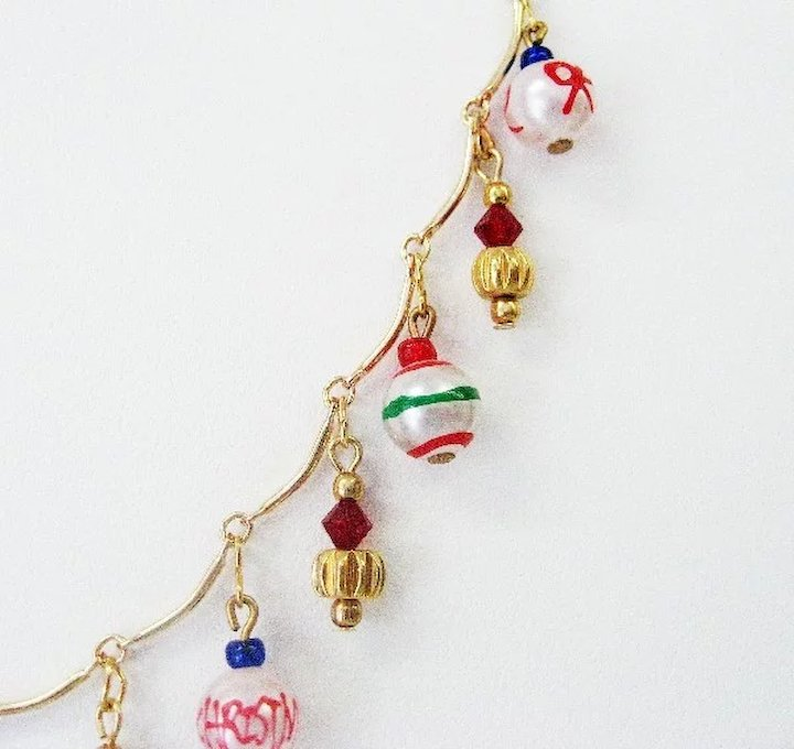 Fun and Pretty Christmas Ornament Necklace - Red Tag Sale Item - Fun And Pretty Christmas Ornament Necklace - Red Tag Sale Item SOLD