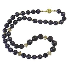 Beautiful Dark Amethyst Necklace