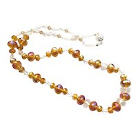 Sparkling Amber Crystal Necklace