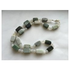 Wonderful Jade/White Agate Necklace