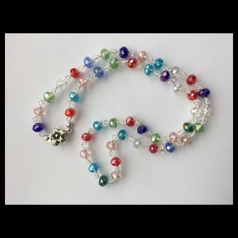 Gorgeous Rainbow Crystal Necklace