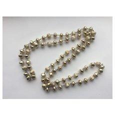 Bright Silver-Plated LONG Necklace - Fun & Pretty!