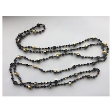 Sparkling Black Crystal LONG Necklace - So Pretty!
