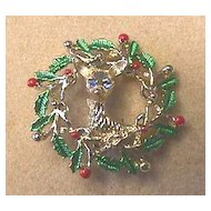 Vintage GERRY'S Classic Reindeer Pin - Book Piece