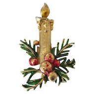 Vintage St. Labre Christmas Candle Pin