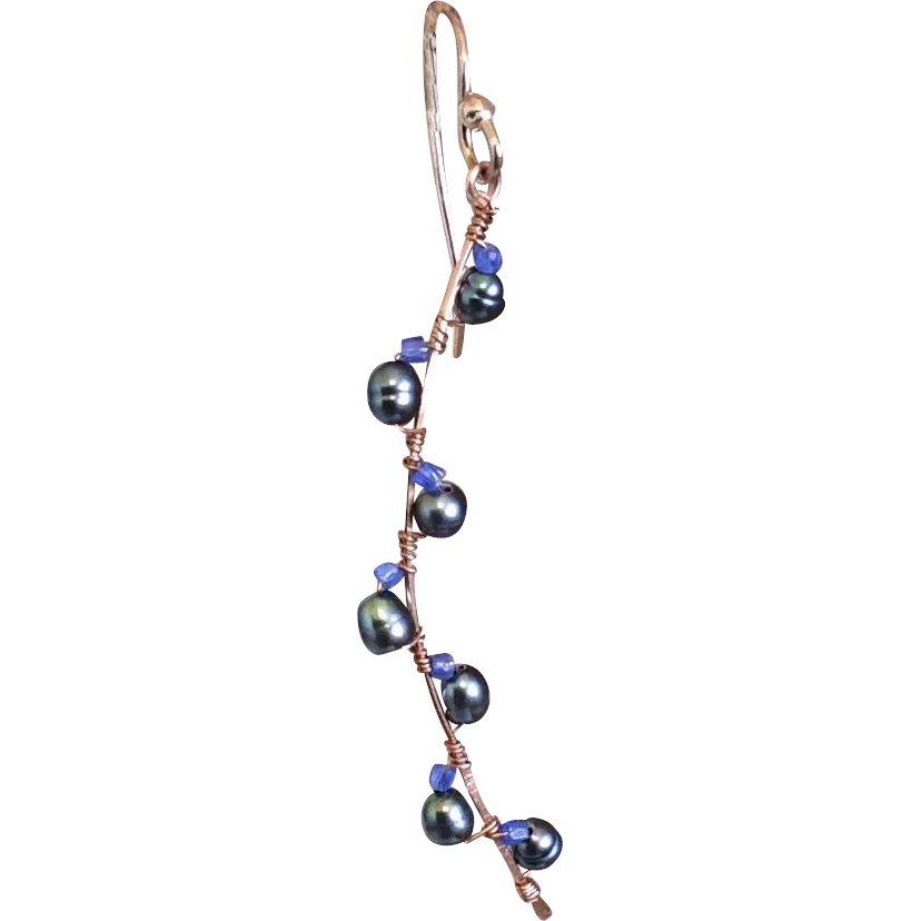 8d34f1675a twig earrings black pearl copper branches camp sundance jewelry urban  cowgirl gem bl.