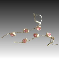 Pearl Twig Earrings, Keshi and Topaz earrings, Rustic Branch Pearl wrapped Earrings