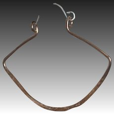 Bold Copper Sterling Silver Hoops, Lantern Hoop Earrings, Rustic Cooper Hoops