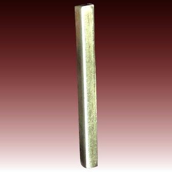 Modern, Minimalist long rectangle Sterling Silver Post earrings by Gem Bliss