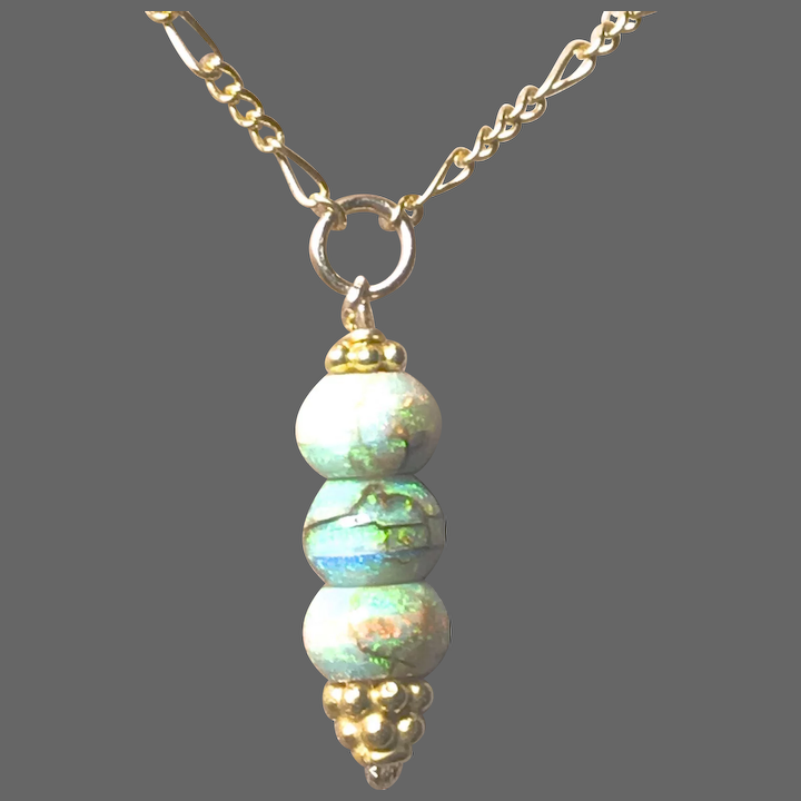 Opal Drop Gold Filled Pendant Necklace Gem Bliss Jewelry Designs Ruby Lane