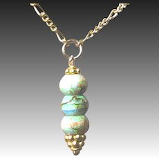 Opal Drop Gold filled Pendant Necklace