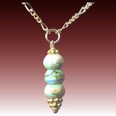 Opal Drop Gold filled Pendant Necklace