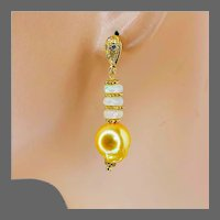Opal and Flameball Pearl CZ studded Studs and Ethiopian Opal 14K Gold-filled Earrings by Gem Bliss Jewelry