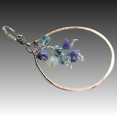 Wisteria cascade earrings, Copper Hoop earrings, Silver Designer earrings, Camp Sundance, Gem Bliss