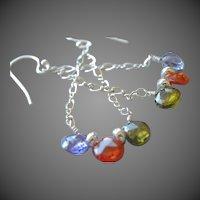 CZ chandelier earrings, Cubic Zirconium, Camp Sundance jewelry, Silver earrings, Gem Bliss