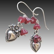 Milagros Silver earrings, Silver drop earrings, charms, Camp Sundance, Gem Bliss