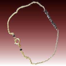 Diamond bracelet, Raw black Diamonds, layering bracelet, Diamond bar bracelet, Camp Sundance jewelry, gift for her, Gem Bliss