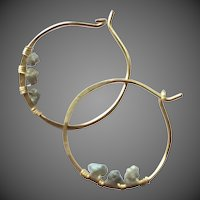 Petite Diamond Hoops, Raw Diamond Hoops, Wedding Diamond earrings, Bridesmaid gift, Gold filled, Camp Sundance, Gem Bliss