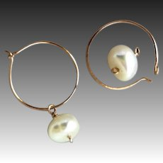 Rose Gold hoops, self closing earrings, endless Hoops, little girl jewelry, Camp Sundance jewelry, Gem Bliss